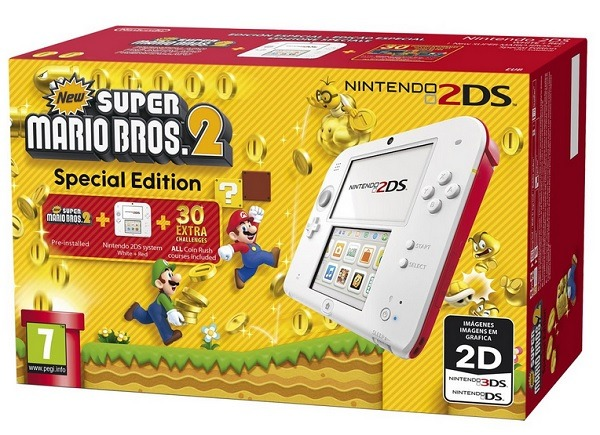 2DS BLANCO + ROJO (Reacondicionada)