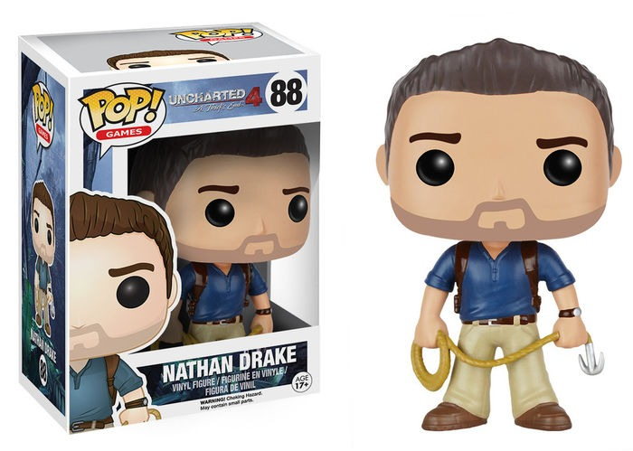 NATHAN DRAKE 10 CM VINYL POP GAMES UNCHARTED (NUEVO)
